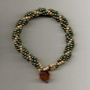 Beaded Bracelet green 001