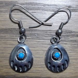 Bear Paw Turquoise Earrings