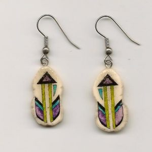 Feather Antler Earrings