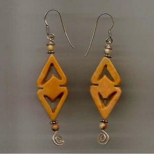 Yellow Earrings 001