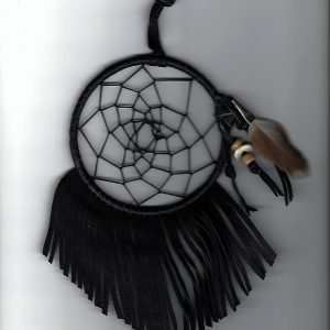 Dream Catcher 4 inch black