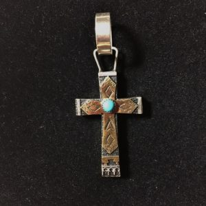 Sterling & Gold Cross